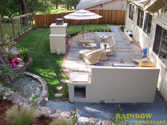 Garden services garden maintenance and landscape for Backyard built in bbq ideas